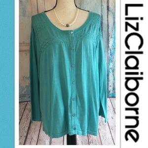 🎉Plus Size Liz Claiborne Cardigan🎉Sz 2X